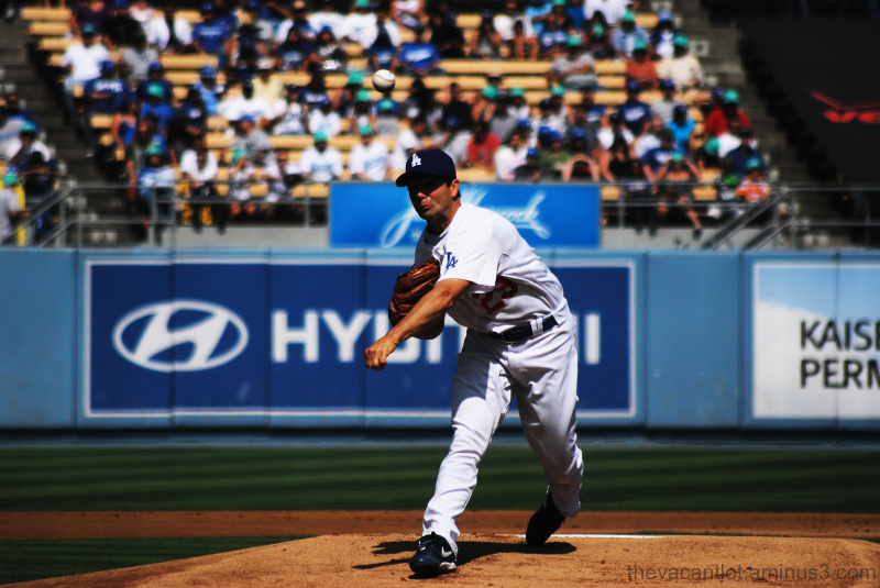 Dodgers pitcher release ball
