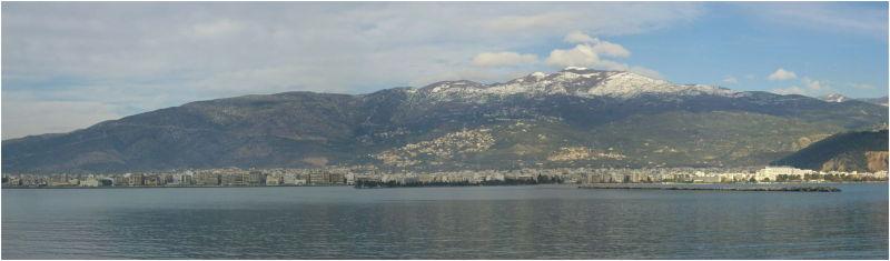Volos city & Pelion Mt. panorama image
