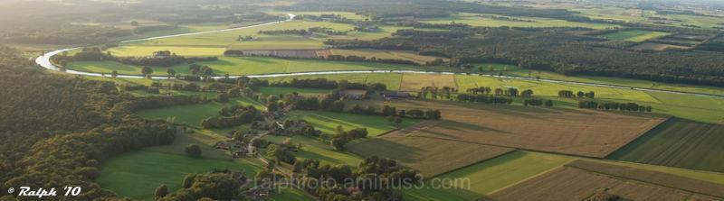 panorama, luchtballon, vechtdal, Nikon, D90