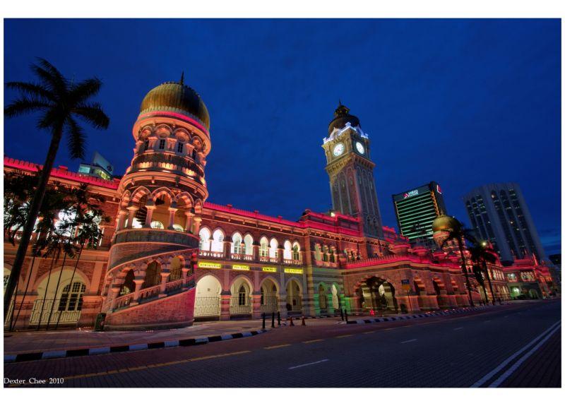 Sultan Abdul Samad Building At Night