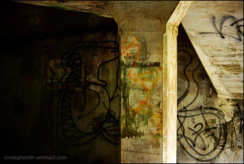 column with graffiti