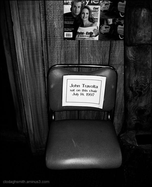 john travolta's chair
