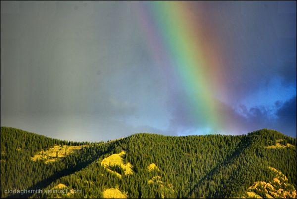 rainbow over taos mtn