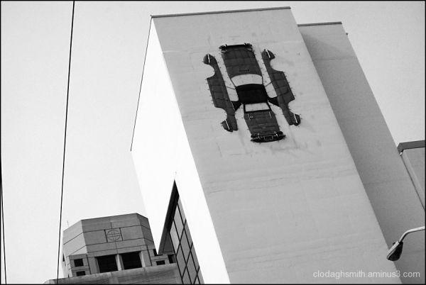 karmann ghia on a wall