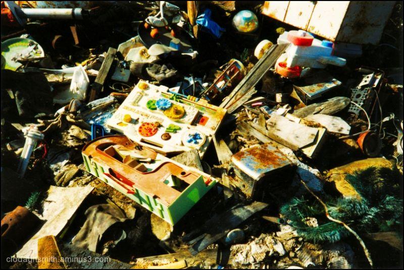 urban dump salvage waste toys