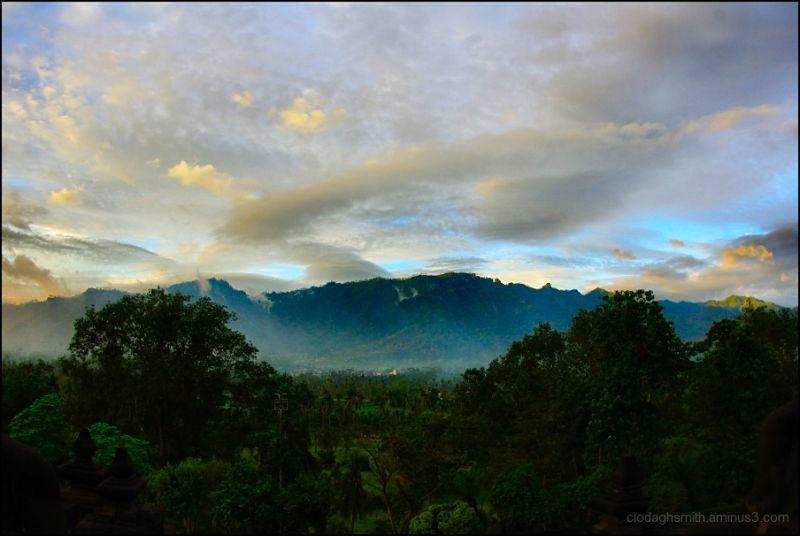 sunrise Borobudur Java