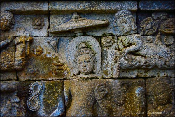 Java Borobudur bas relief