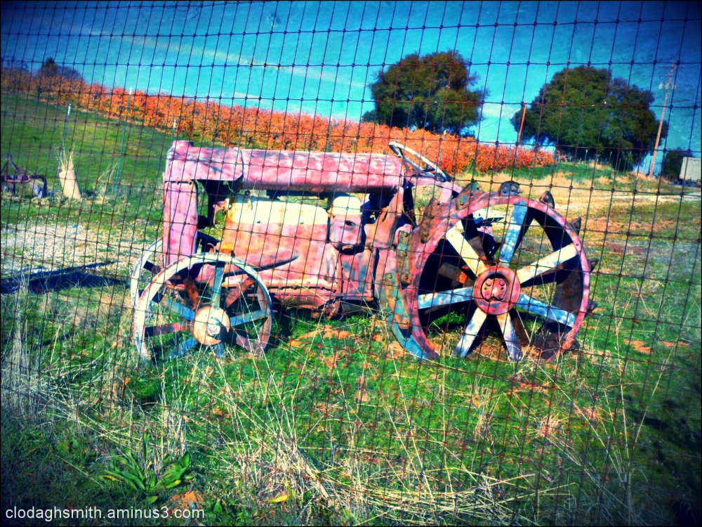 pastel tractor