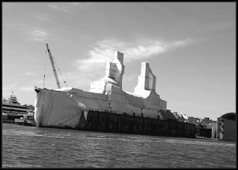 ship in drydock ala  Christo