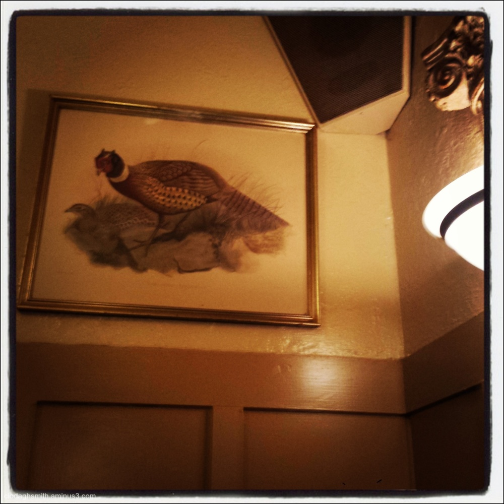 from the corner table,  club pheasant