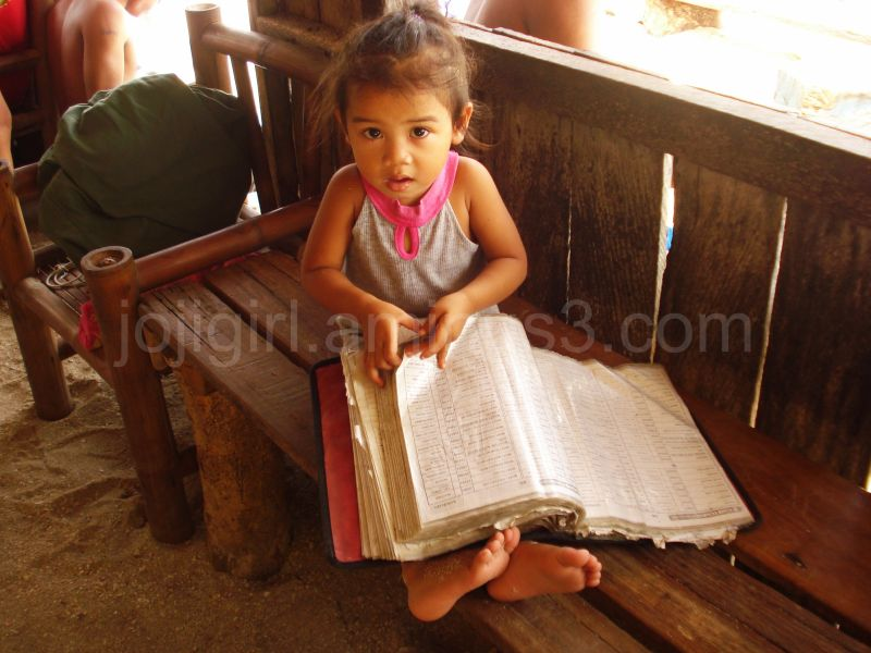 A child and a book