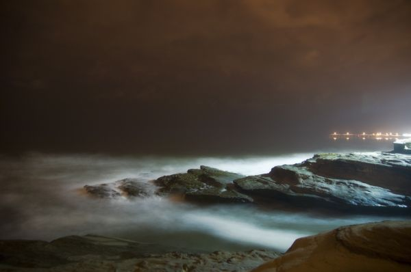 long exposure shot of Sunset Cliffs in San Diego