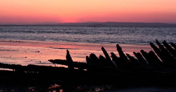 Sunset on Shipwreck