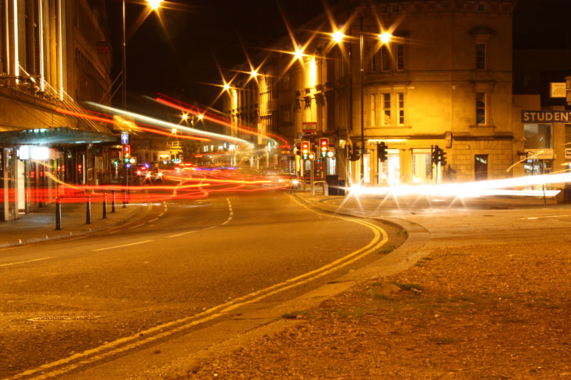 Triangle Bristol Light Trails