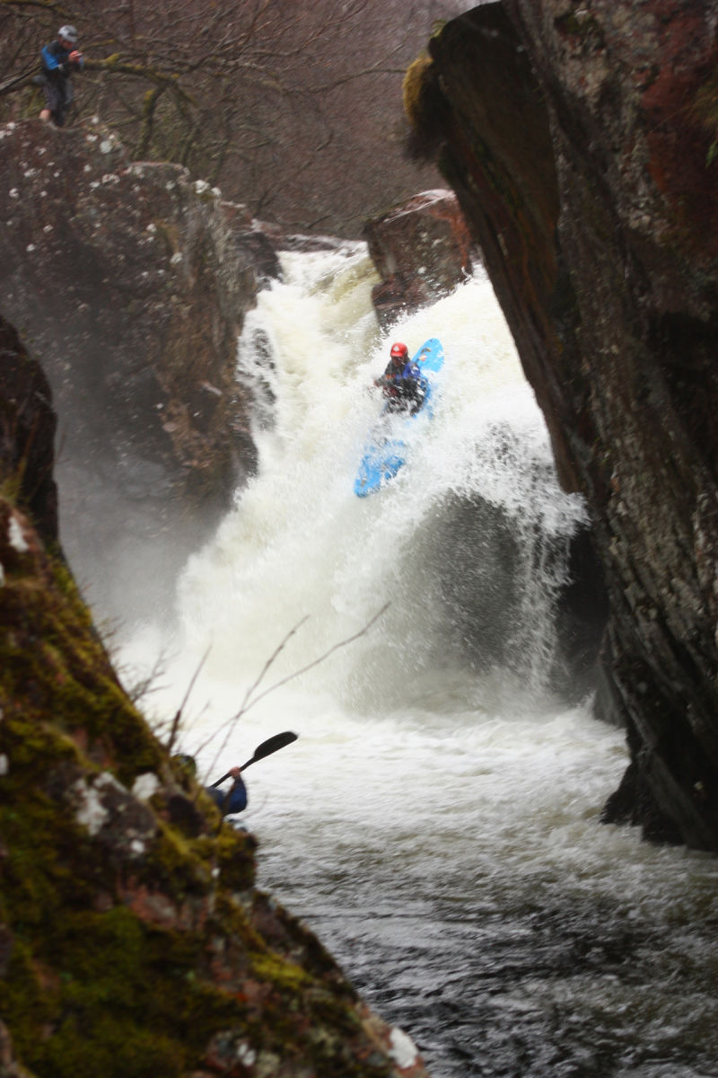 River Nevis Waterfall Kayaker
