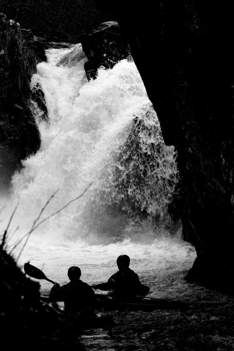 River Nevis Waterfall Kayaker