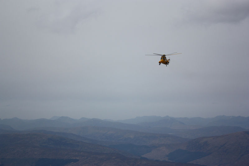 Sea King at Ben Nevis
