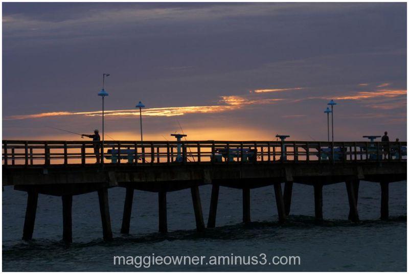Cloudy sunrise @ Commercial Blvd Pier