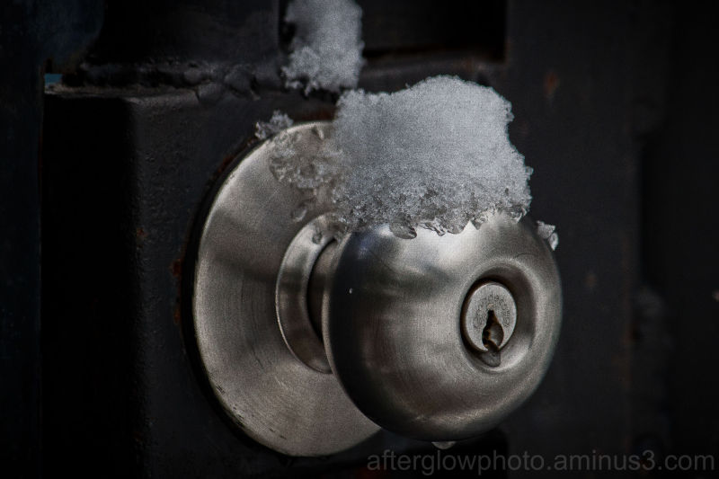 Snow on a Door Knob