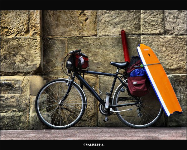 La bici del surfero