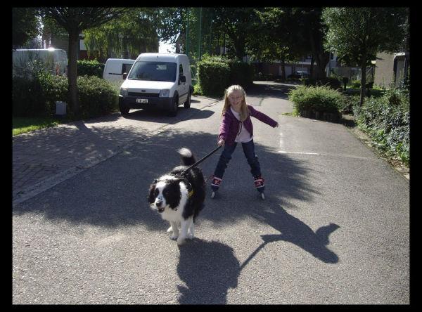 Amber and Toddy skating