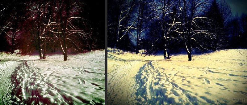 red-blue snow-white