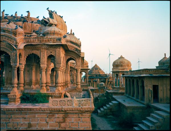 vyas chattris, jaisalmer, rajasthan, india