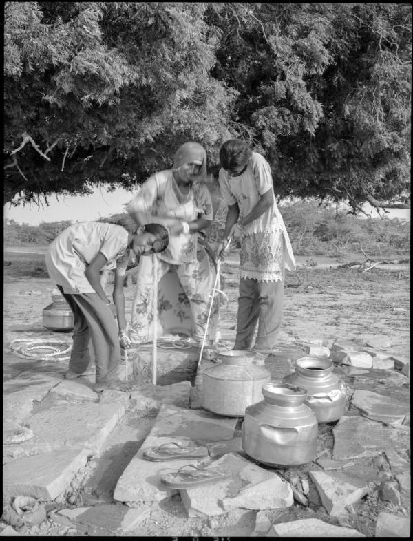 khuri desert village, rajasthan, india