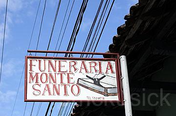 funeral sign nicaragua