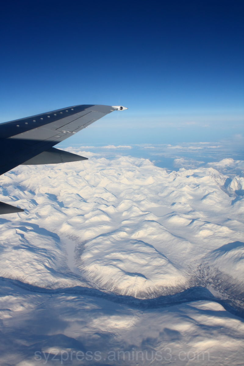 Over Scandinavian Frozen Mountains