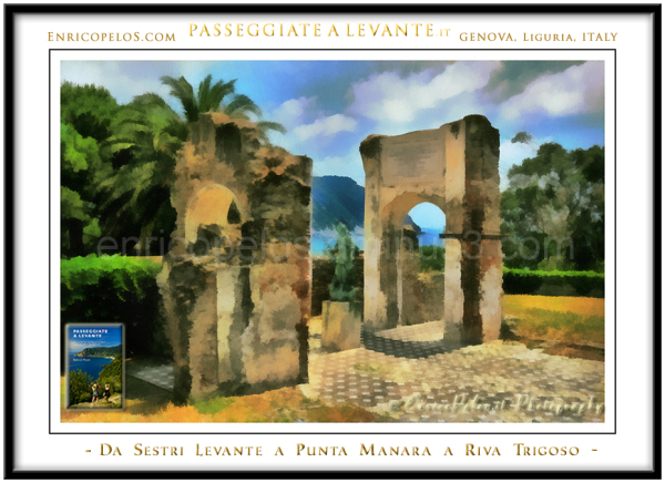 Ancient ruins on sestri levante peninsula