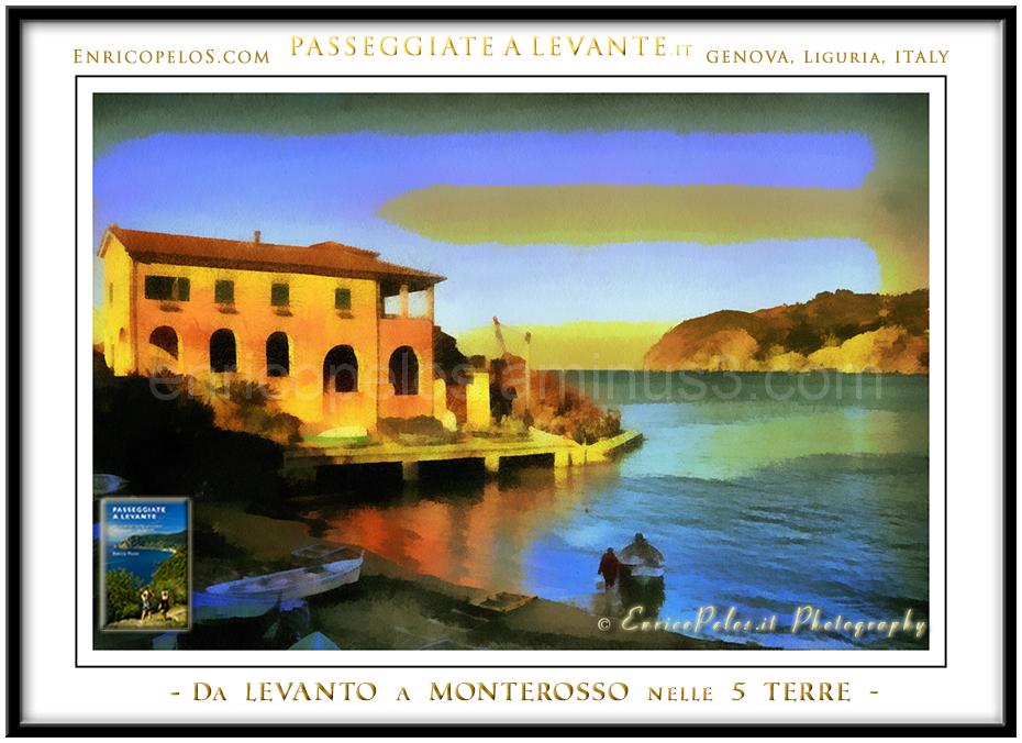 Fishermen dawn in Levanto
