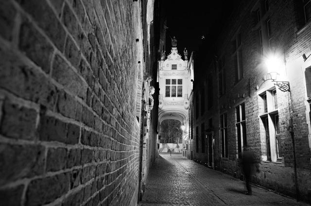 Night mood in Brugge