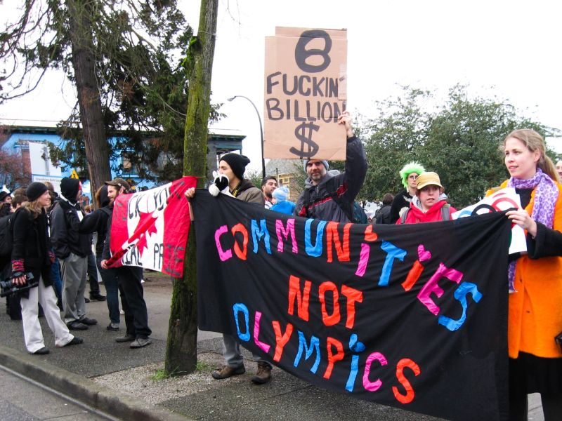 Commercial Drive Rally - Olympics resistance