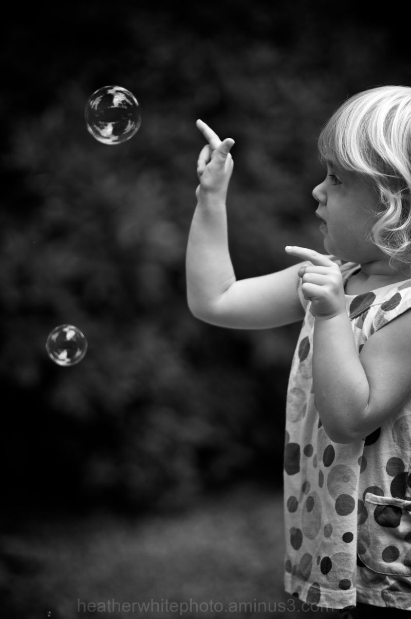 popping bubbles