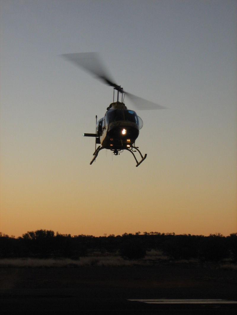Jet Ranger Helicopter Ayres rock Houman Dehghani