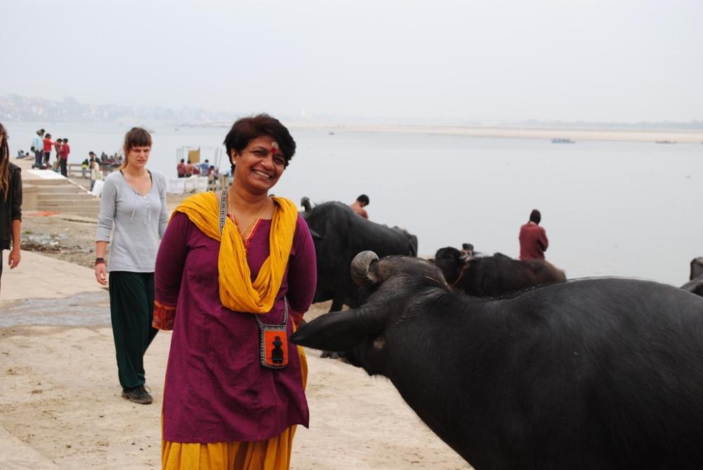 On the bank of ganga varanasi