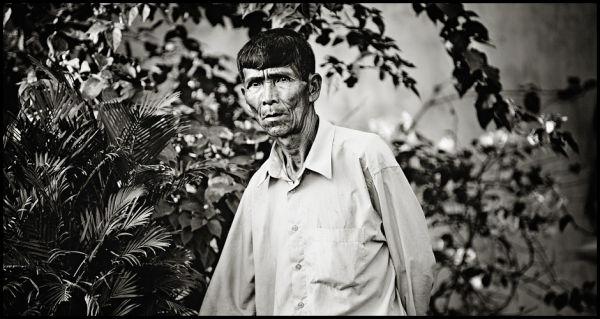 portrait of a vietnamese fisherman