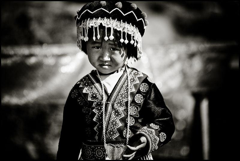 portrait of an Thai Hmong girl