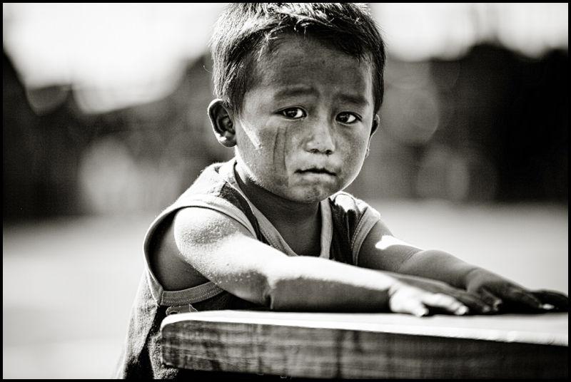 portrait of an Thai Hmong boy