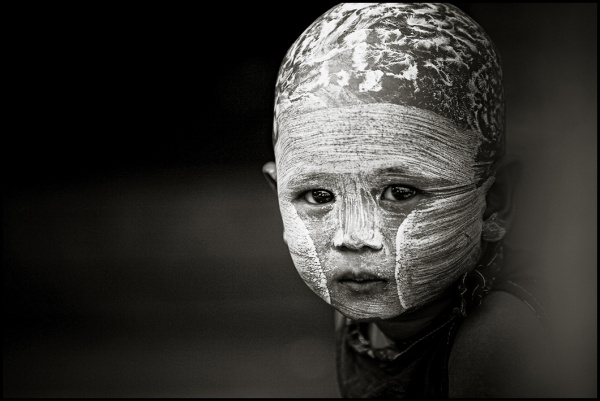 portrait of a burmese kid
