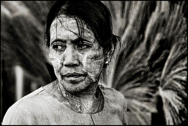 portrait of a burmese woman