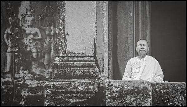 Munk in Angkor Wat