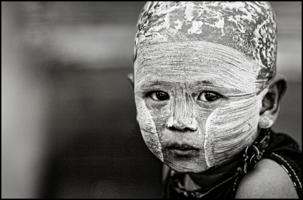 portrait of a bumese kid