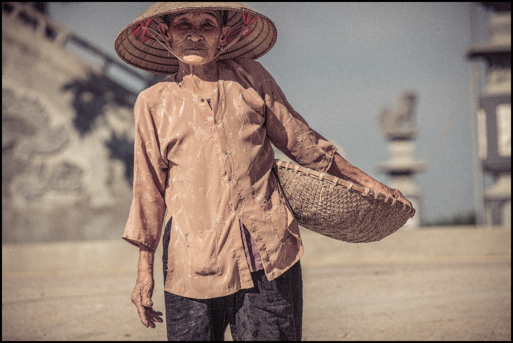portrait of a vietnamese farmer