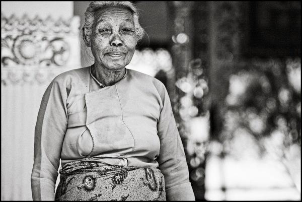 portrait of a burmese woman