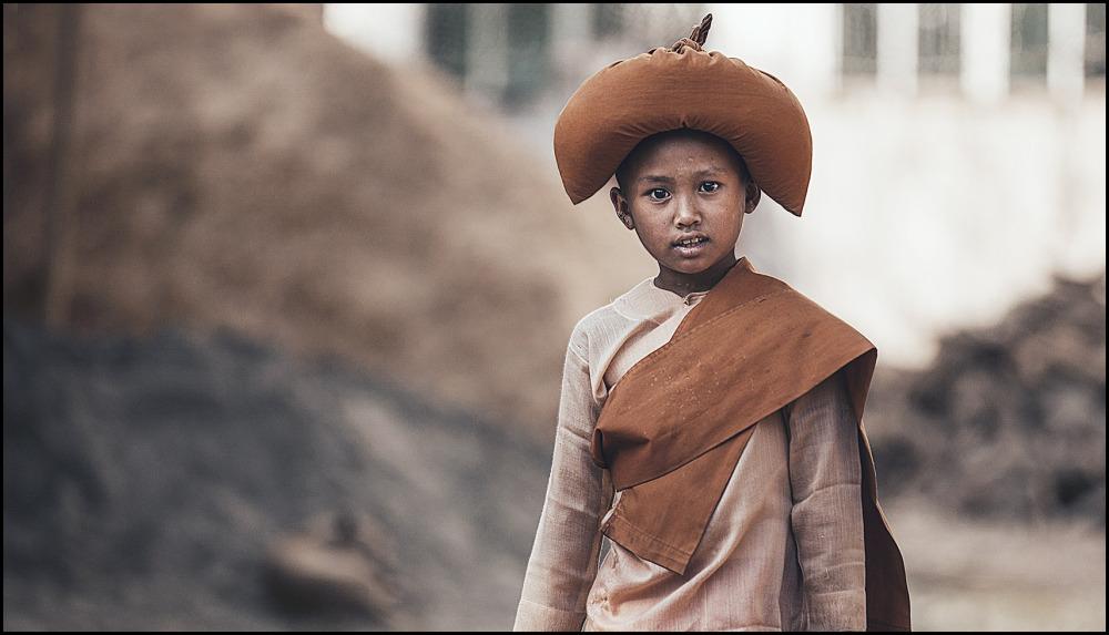 portrait of a burmese boy