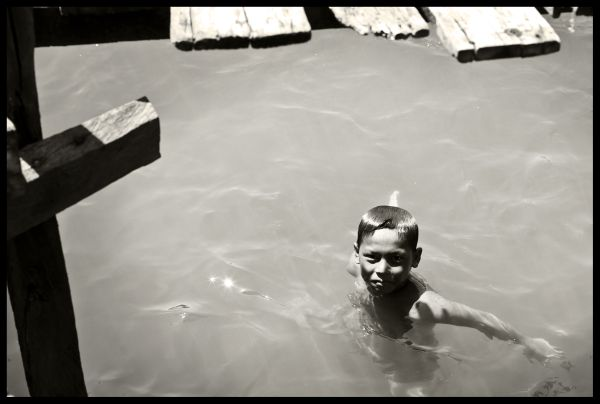 Bajau Village - head above water