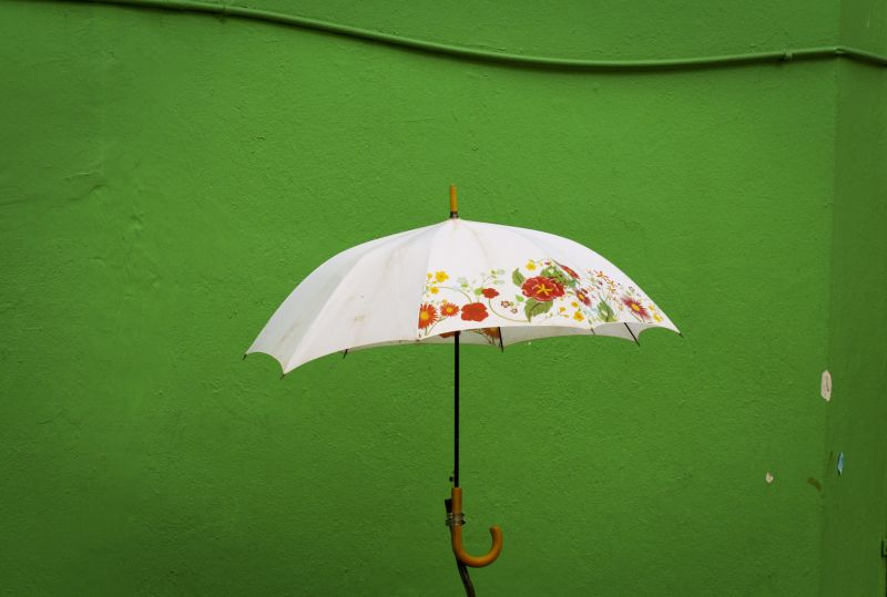 spotted: floating umbrella in Little India