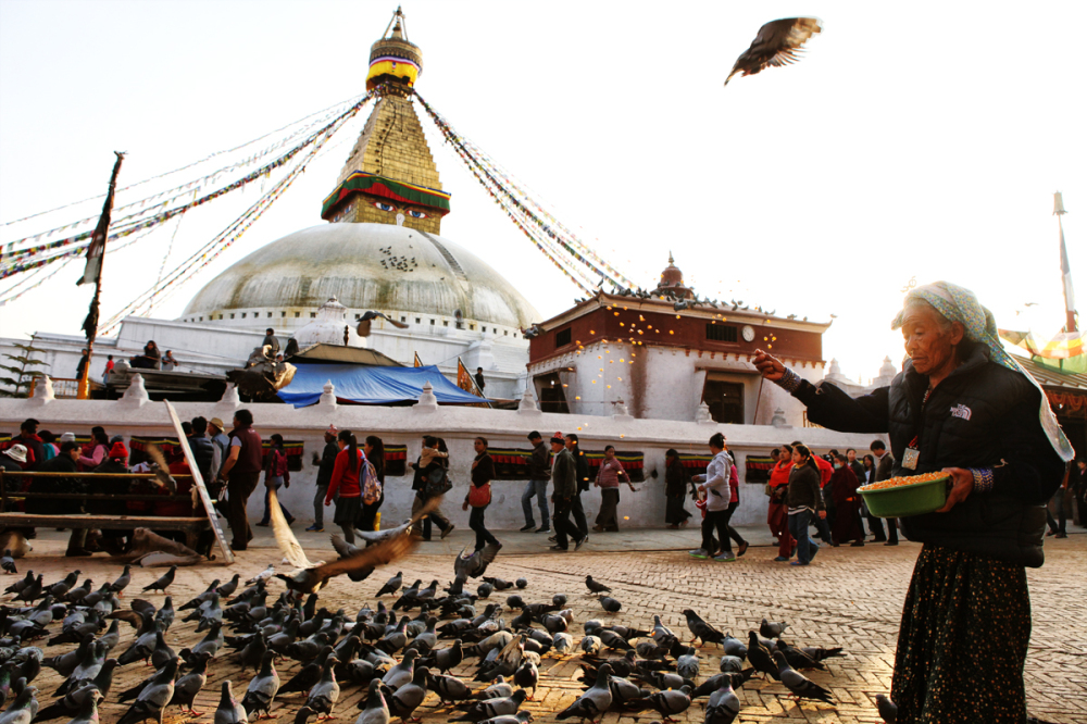 At Boudhanath Stupa
